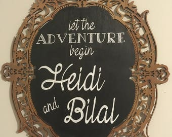 Let The Adventure Begin Sign