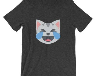 Cat Laughing Emoji T-Shirt