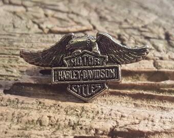 Vintage Harley Davidson Motor Cycles Vest or Hat Pin