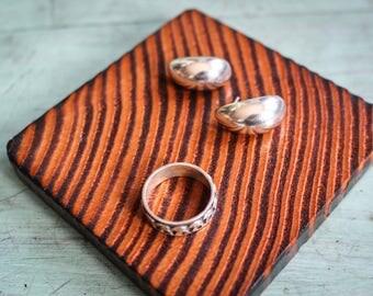 Silver Earrings + Ring