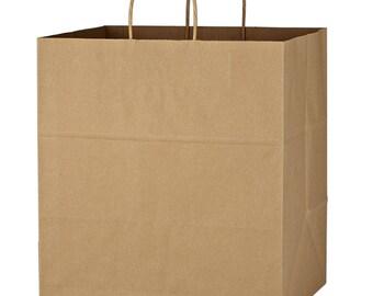 400 Large  Natural  Blank Kraft Bags