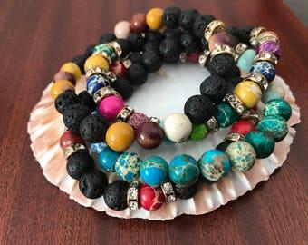 Aromatherapy Lava Stone Bracelet Diffuser