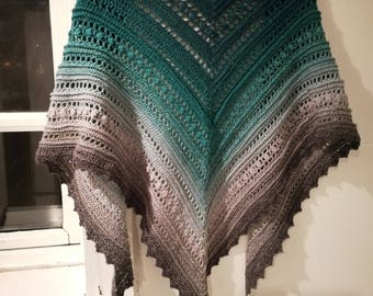 Secret Paths triangle shawl