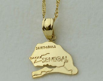 Golden Senegal Necklace