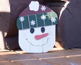 Snowman Decor, Rustic, Rustic Snowman, Christmas Decor, Winter Decor, Winter, Snowman, Wall Hanging, Wall Decor, Home Decor, Home & Living
