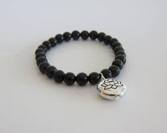 Natural Black Obsidian bracelet