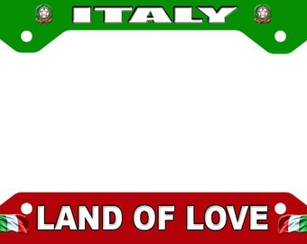 Italy License Plate Frame Novelty Tag