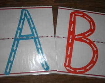 Tactile Set 2: uppercase letters and lowercase letters
