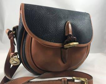 Authentic Vintage Dooney & Bourke Rare Crossbody Saddle Bag