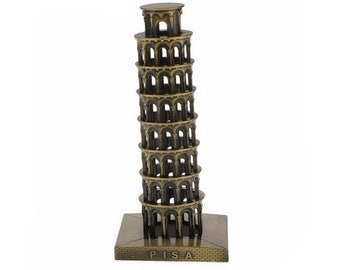 "Retro Metal Italy The Leaning Tower of Pisa Model World Famous Landmark Architecture Home Office Decor Gift 16cm(6.3"")"