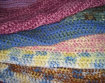 Handmade Multicolor Crocheted Blanket