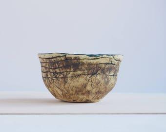 Natural ceramic bowl, blue bowl, handmade pottery, ceramic bowl, decorative dish, home decor, handmade gift, gift for girl