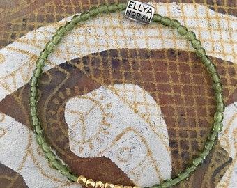 Bracelet - 190 transparent green