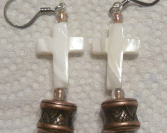 Hand Made Cross Earrings