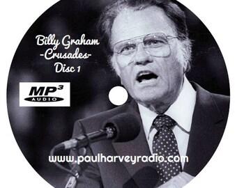Billy Graham Crusades (31 Sermons) 2 MP3 CD's