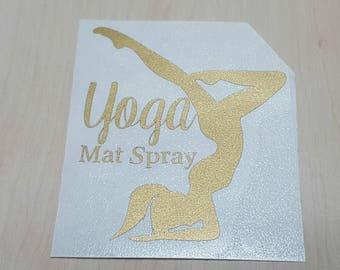 Yoga Mat Spray Vinyl Decal