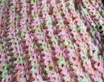 Crochet baby afghan – Sherbet– Team Paws Chicago