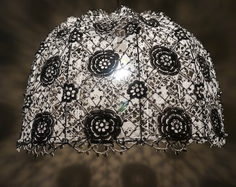 "Lampshade ""Roses in fagots"" (knitted lampshade)"