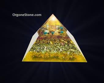 Orgonite Magnesia great pyramid 120mm