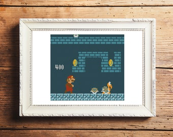 Super Mario Bros III Cross Stitch Pattern (Digital Download)