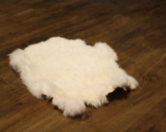 White Authetic Rabbit Pelt