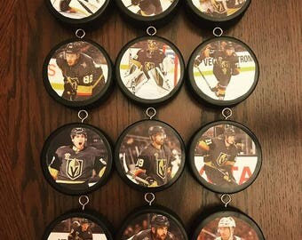 Vegas Golden Knights Puck Ornaments (Set of 12)