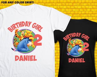 Winnie The Pooh / Iron On Transfer / Winnie The Pooh Birthday Shirt Design / DIY Shirt / High Resolution / For Any Color T Shirt