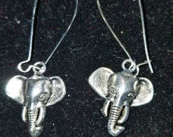 Boutique Silver Alloy ...Elephant Earrings for Alabama Football Fans...go Bama!  #C62