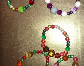 Multi coloured stretchy bracelets