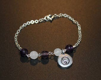 Bracelet Yin Yang and gems