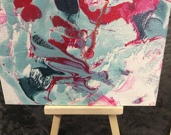 4x6 desktop abstract art w easel
