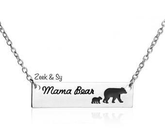 Customize your mama bear necklace