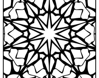 Wackadoodle Coloring Square Mandala #49