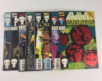 Lot of 8 MARVEL Comic Books Punisher Summer #1-3 Back To School #1-3 Holiday Special C2
