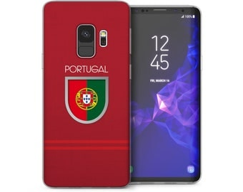 Samsung Galaxy S9 Case, Portugal Football Sports Shield Silicone Soft Cover