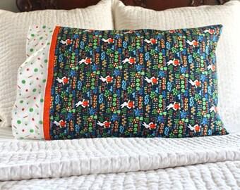 Gardening bunnies pillowcase, Easter pillowcase, Easter gift for kids, Easter basket stuffers, handmade pillowcase, pillowcase