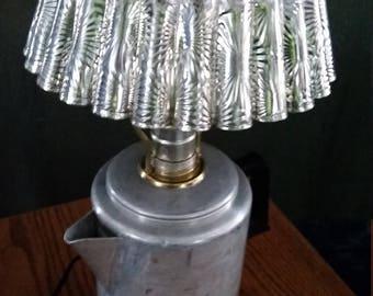 Vintage HOMEMADE COFFEPOT LAMP