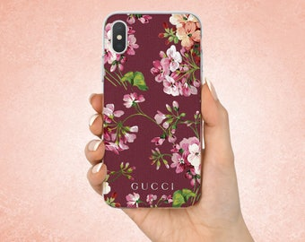 Gucci case Iphone 7 Gucci case Iphone 8 Gucci Iphone X coverGucci Galaxy Gucci case Samsung cover Gucci Logo Fashion case Flowers case Gift