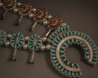 Reversible Squash Blossom Necklace
