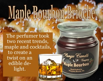 Maple Bourbon Brioche Scented Jar Candle (16 oz.)!