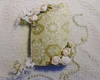 Shabby Chic Scrapbook Mini album Floral Spring Vintage