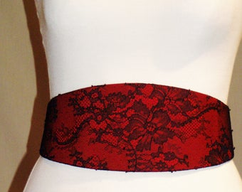 Belt silk and lace of calais