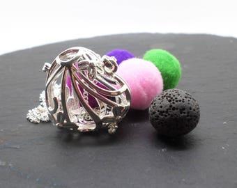 heart shaped locket, aromatherapy pendant