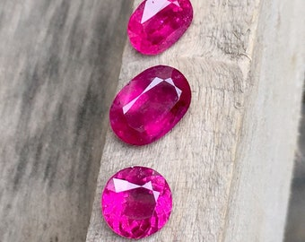 14.50 Carates Very Amazing Faceted Pink Color Rubellite 5 Pieces With Luster From Afghanistan.