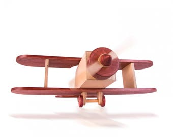 Wooden Toys Airplane, Hanging Airplane, Large Biplane, Wooden Airplane Model
