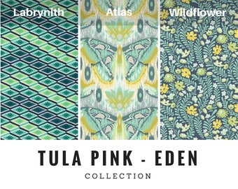 Tula Pink - Eden Collection (in Sapphire)  100% Cotton Fabric by the metre