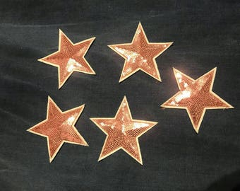 Patch star/sequins patch star/patch pink star/patch sew on.