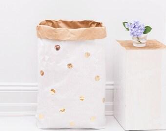 Handmade Kraft Paper Storage  Bin Decorative Nursery