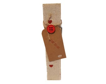 I Love You Lots Valentines Day Mothers Day Decorative Peg Clothespin Memo Note Photo Holder Magnetic
