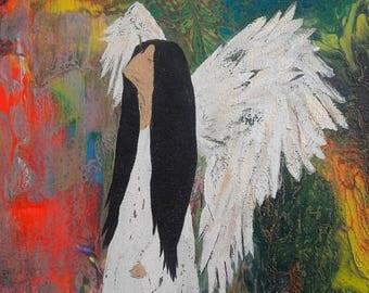 angel painting acrylic